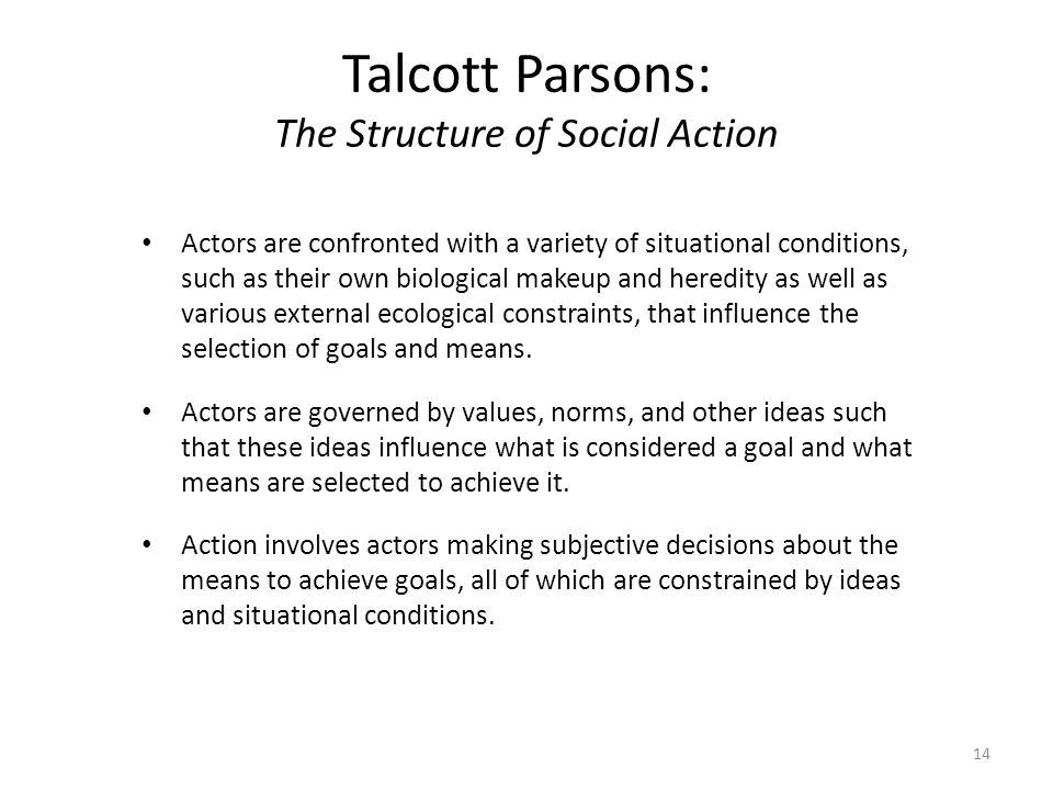 parsons action theory