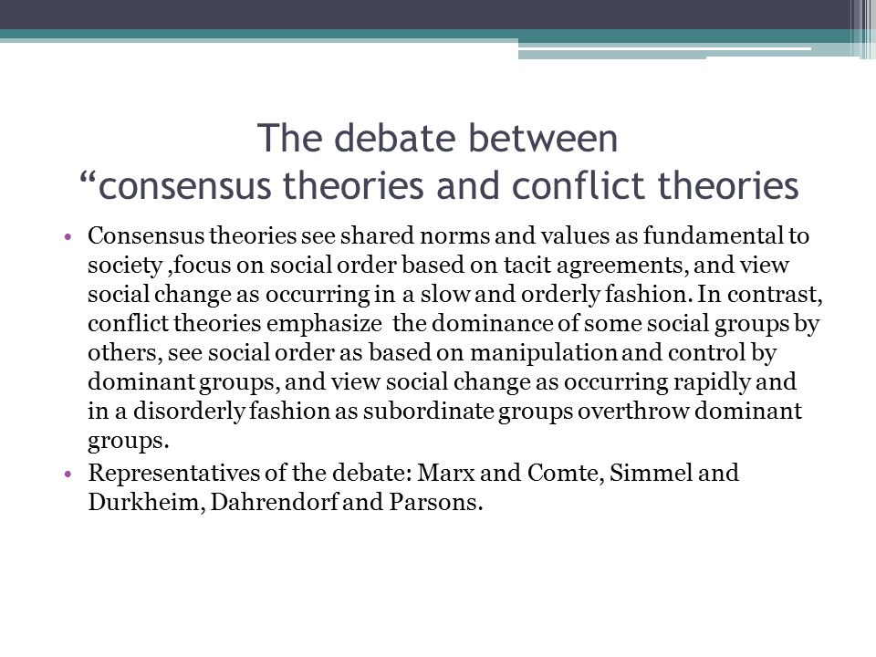 compare and contrast structural functionalism and conflict theory