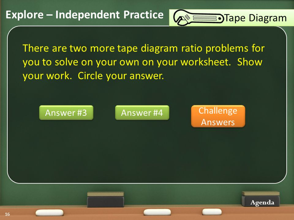 Using tape diagrams with part whole ratio problems ppt video 16 explore independent practice tape diagram ccuart Gallery