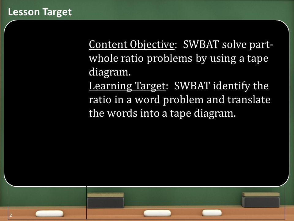 Lesson+Target+Content+Objective%3A+SWBAT+solve+part whole+ratio+problems+by+using+a+tape+diagram. tape diagram part part whole trusted wiring diagrams \u2022