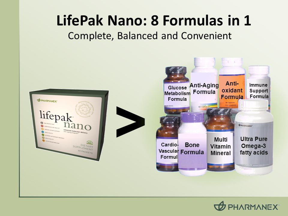 LifePak Nano: 8 Formulas in 1