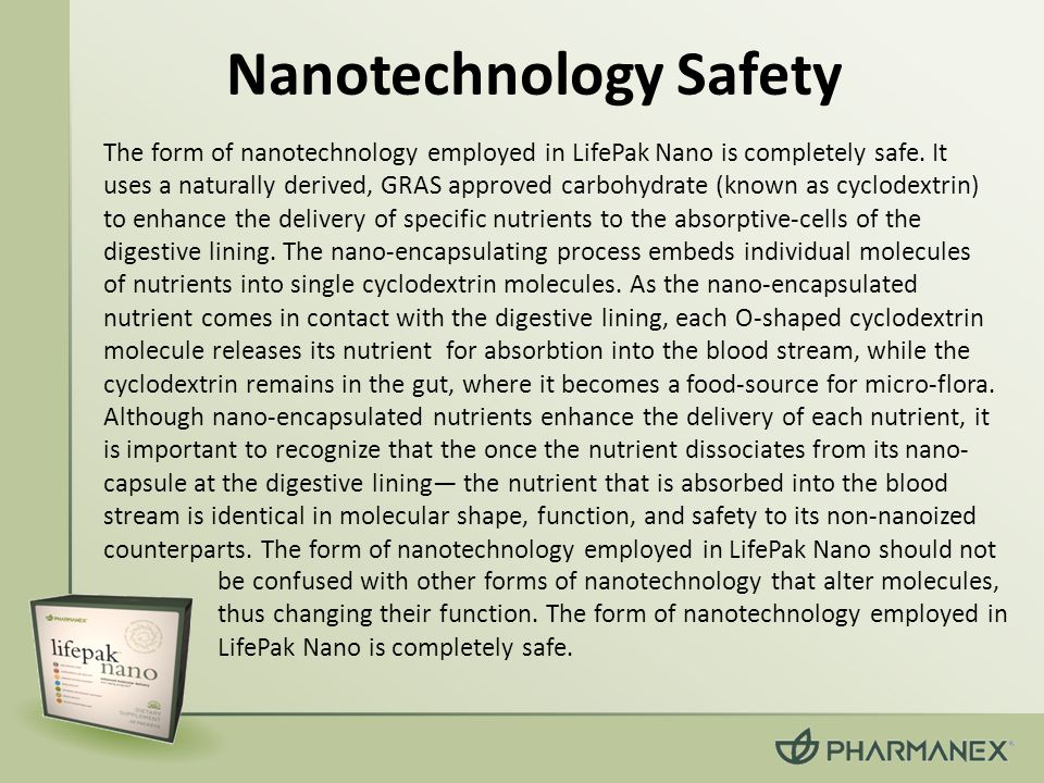 Nanotechnology Safety