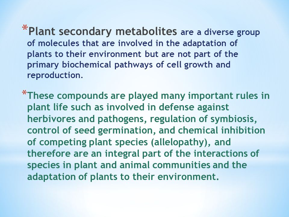 Plant secondary metabolites - ppt video online download