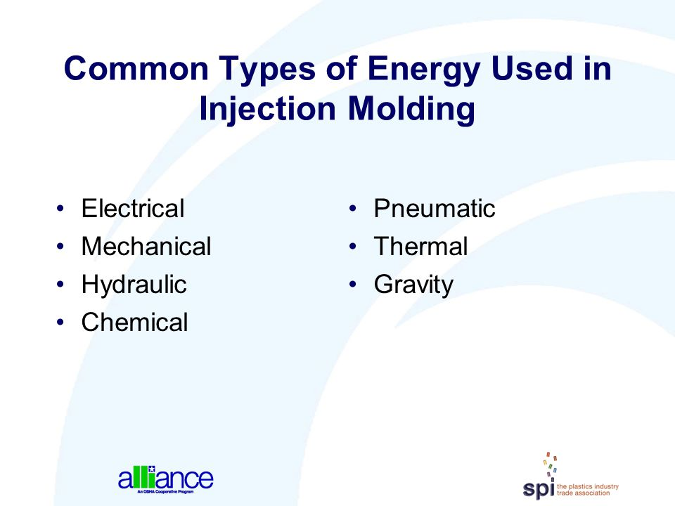 Common Types of Energy Used in Injection Molding