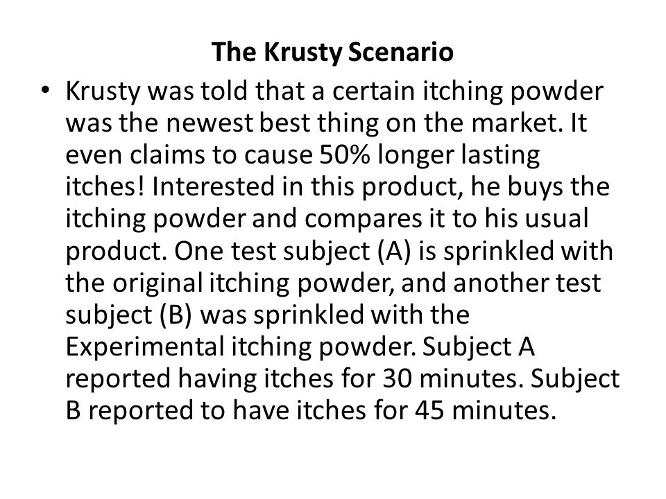 The Krusty Scenario