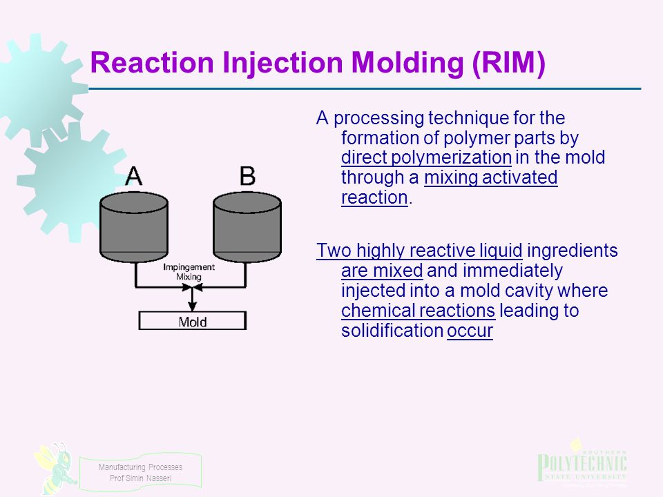 shaping processes for plastics chapter 13 part 2 injection molding rh slideplayer com Reaction Injection Molding Equipment Arburg Injection Molding Reaction
