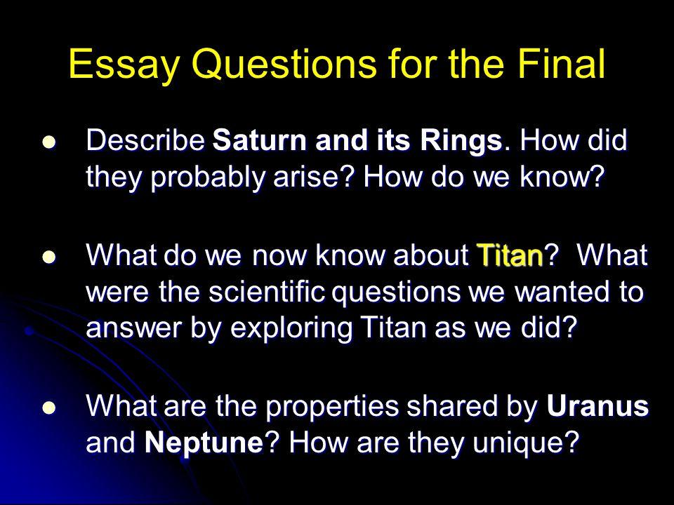 exploring the universe essay