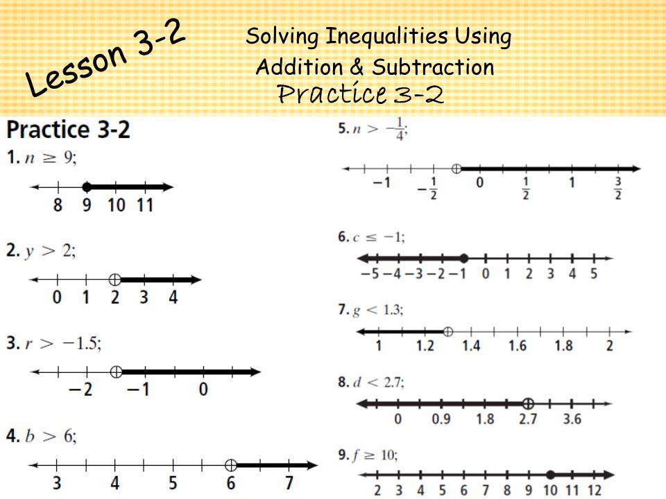 Chapter 3 ~ Algebra I Algebra I Solving Inequalities - ppt