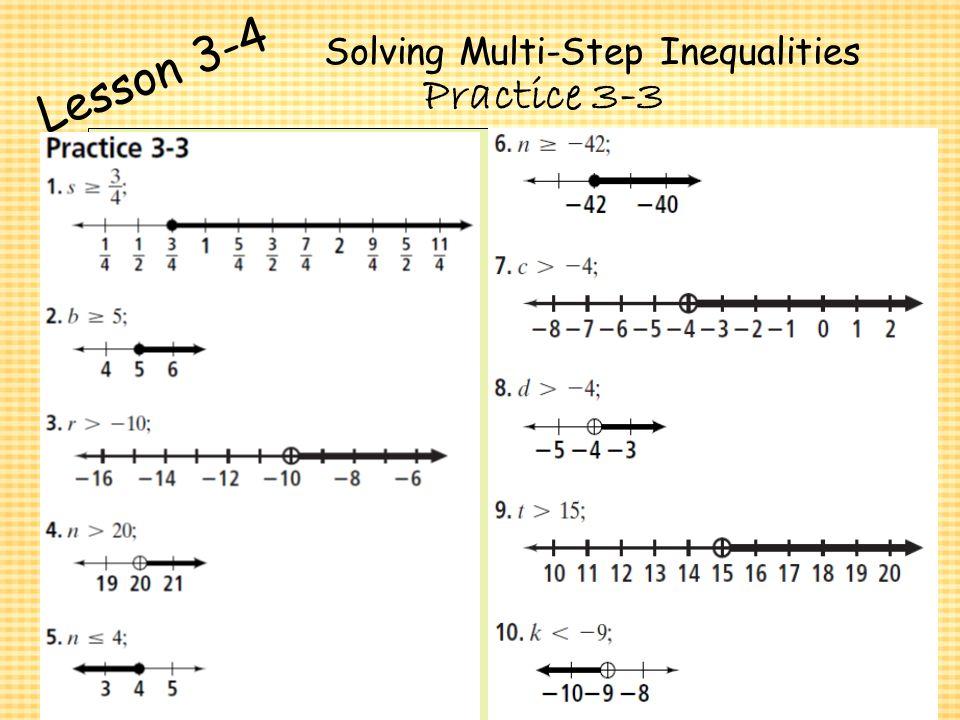 Chapter 3 Algebra I Algebra I Solving Inequalities Ppt Video