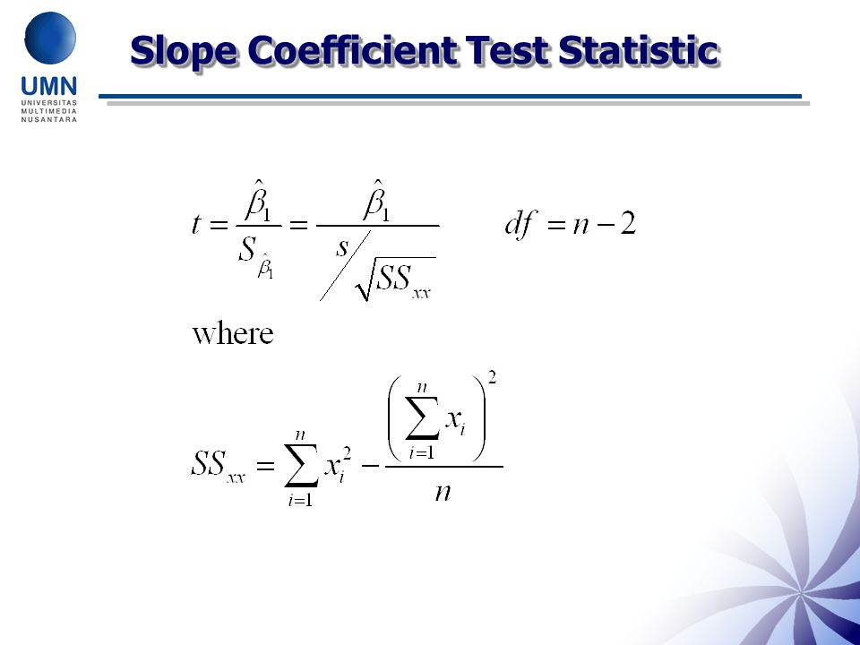 Slope Coefficient Test Statistic