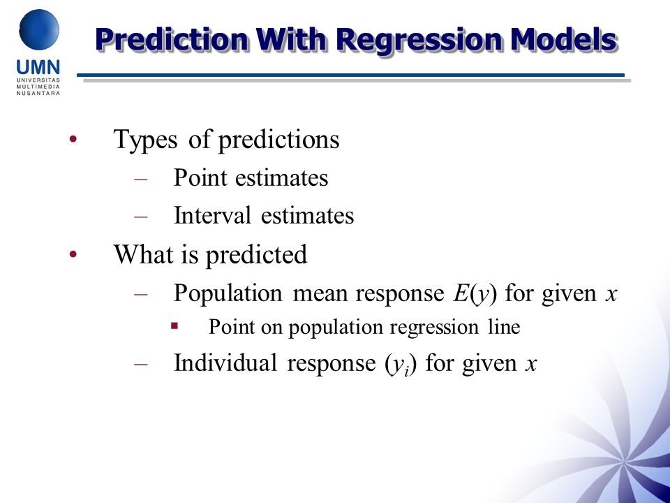 Prediction With Regression Models