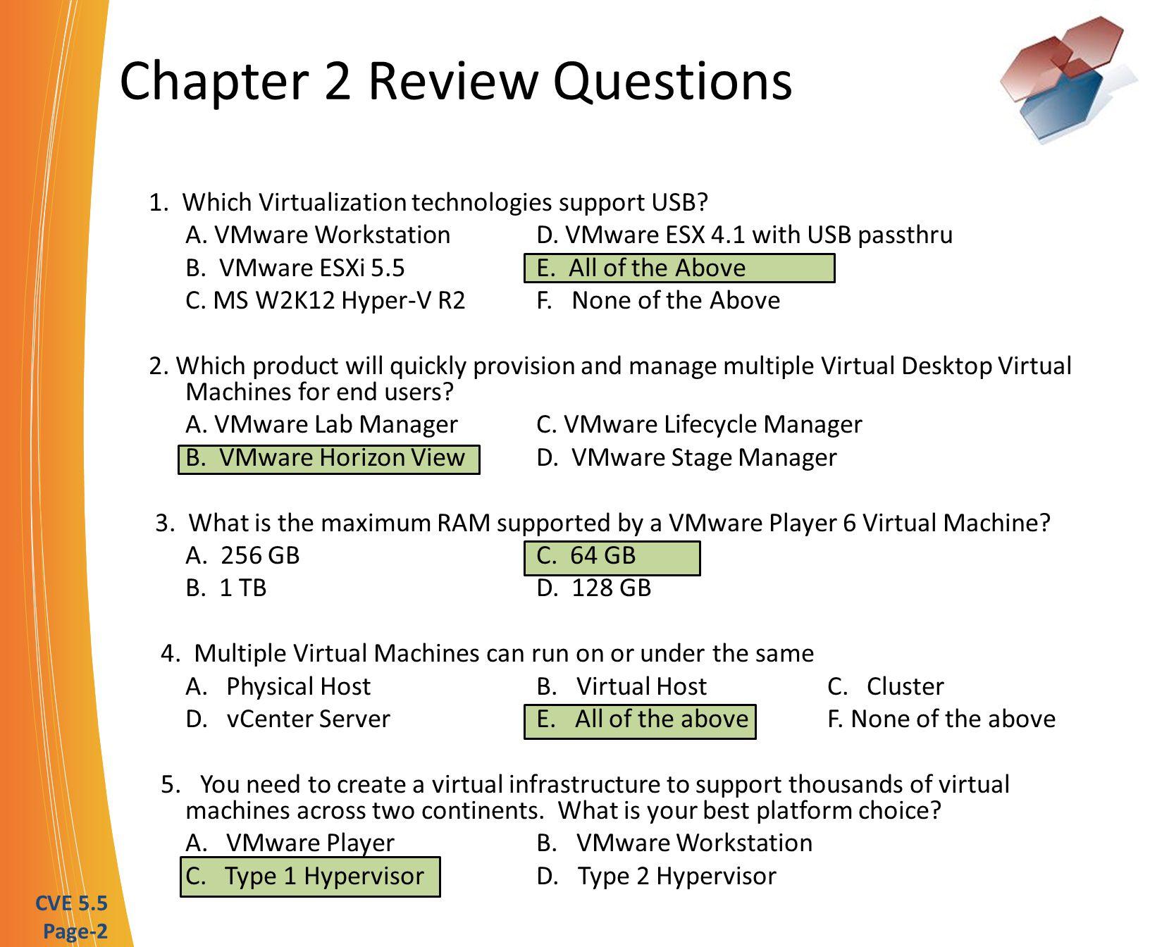 Certified Virtualization Expert Cve 55 Certification Exam Ppt