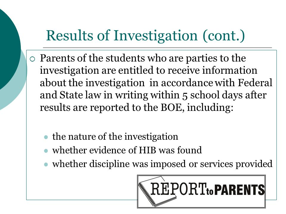Results of Investigation (cont.)
