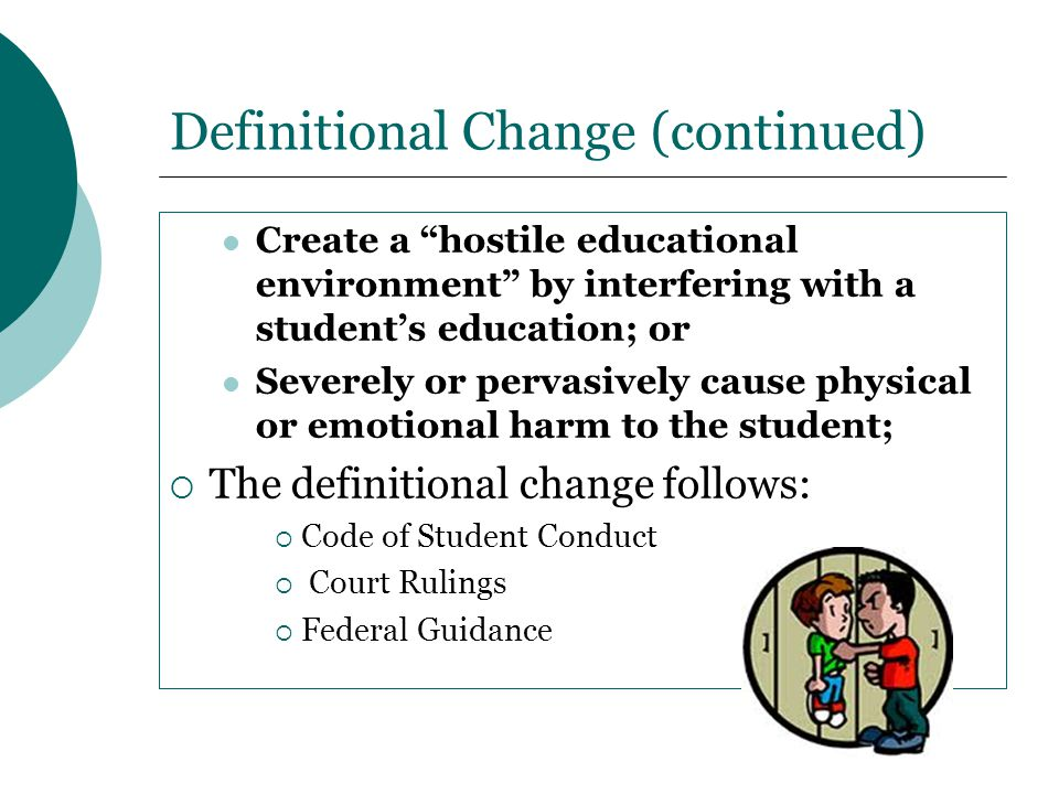 Definitional Change (continued)