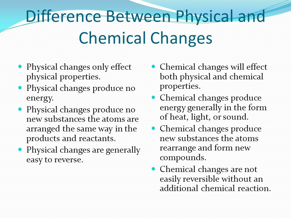 Physical Vs Chemical Changes Ppt Video Online Download