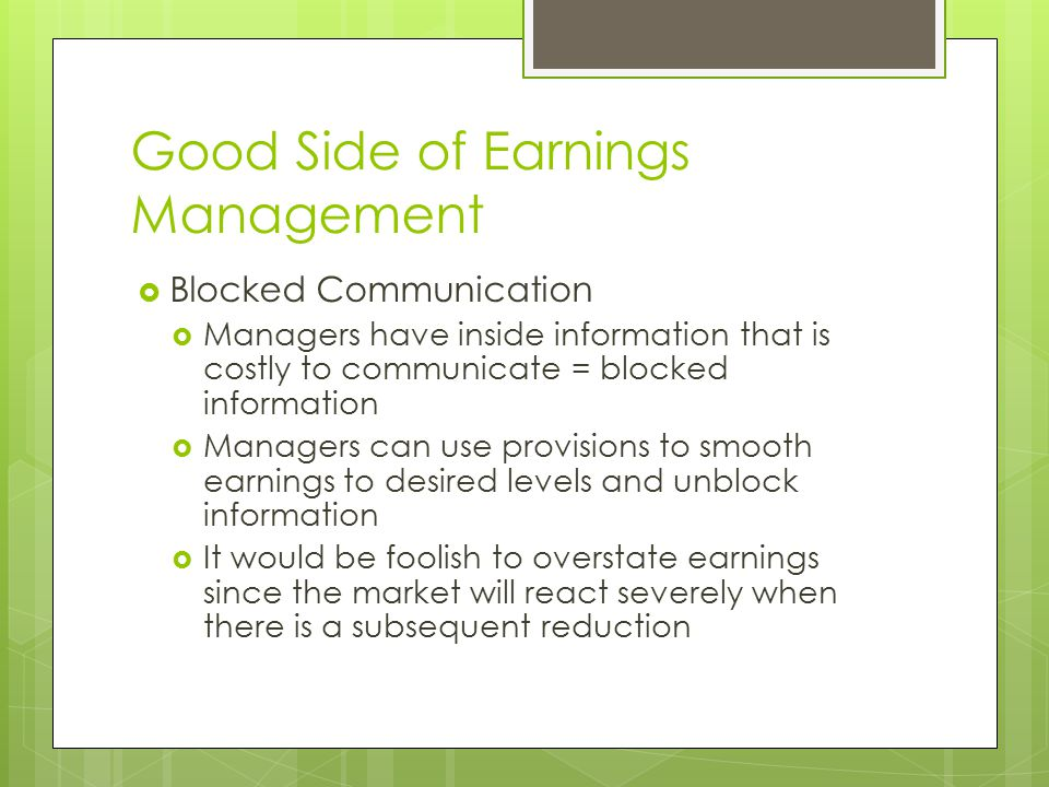 Ppt detecting earnings management dechow, sloan, sweeney (1995.