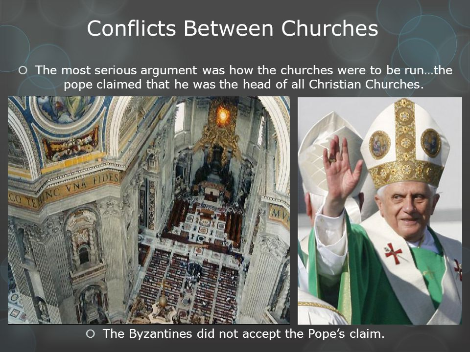 Conflicts Between Churches
