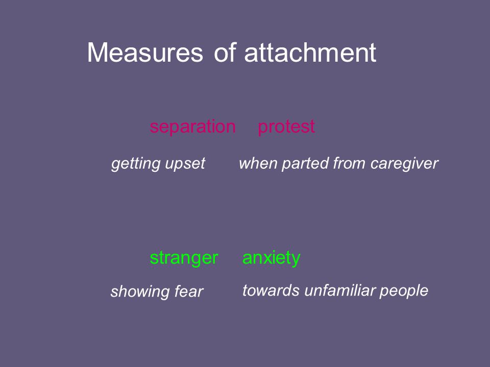 Measures of attachment