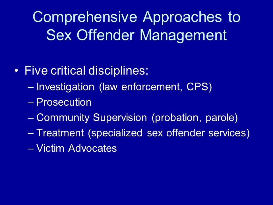 Sex offender treatment and success rates