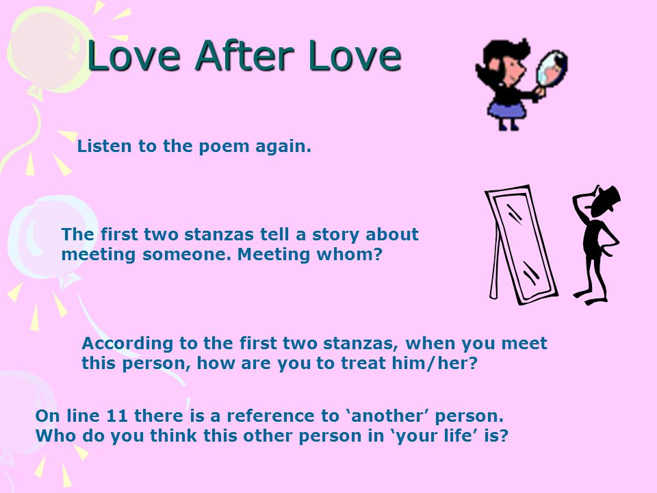 Love After Love Derek Walcott  - ppt download