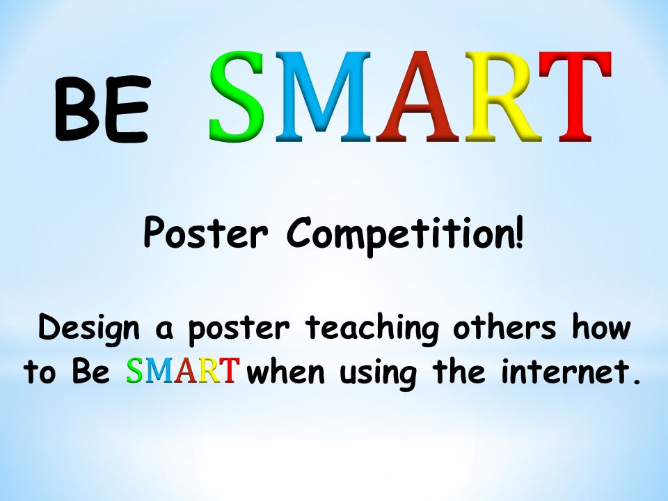 SMART BE Poster Competition!