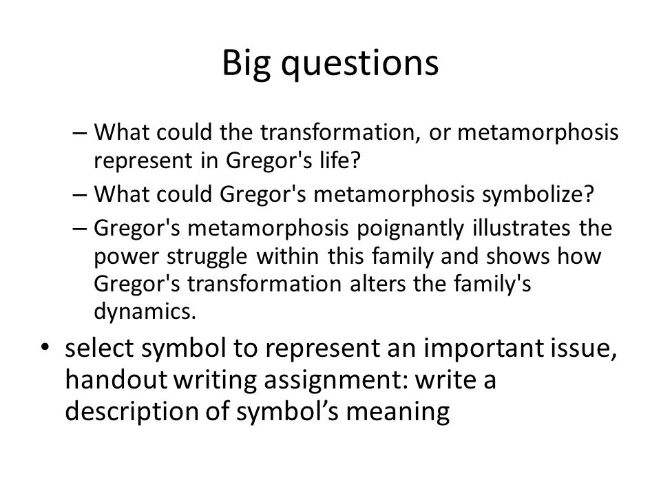 a character analysis of gregor in the metamorphosis by franz kafka Metamorphosis essay, by franz kafka character analysis of gregor in 'metamorphosis' by franz kafka in two pages this paper examines gregor as featured in kafka's short story with the emphasis upon his loneliness.