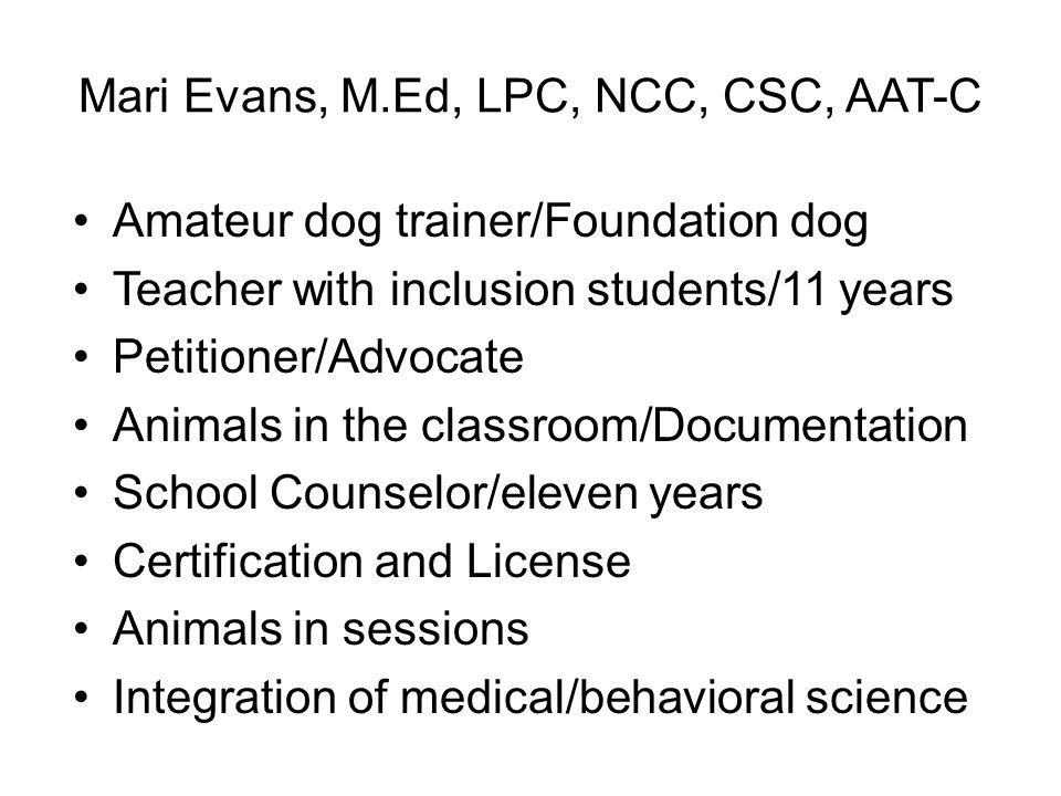 Animal Assisted Therapy - ppt video online download