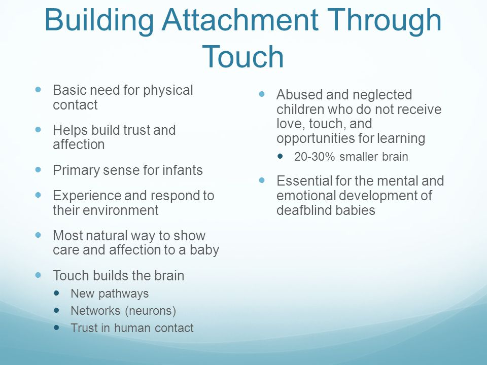 Building Attachment Through Touch
