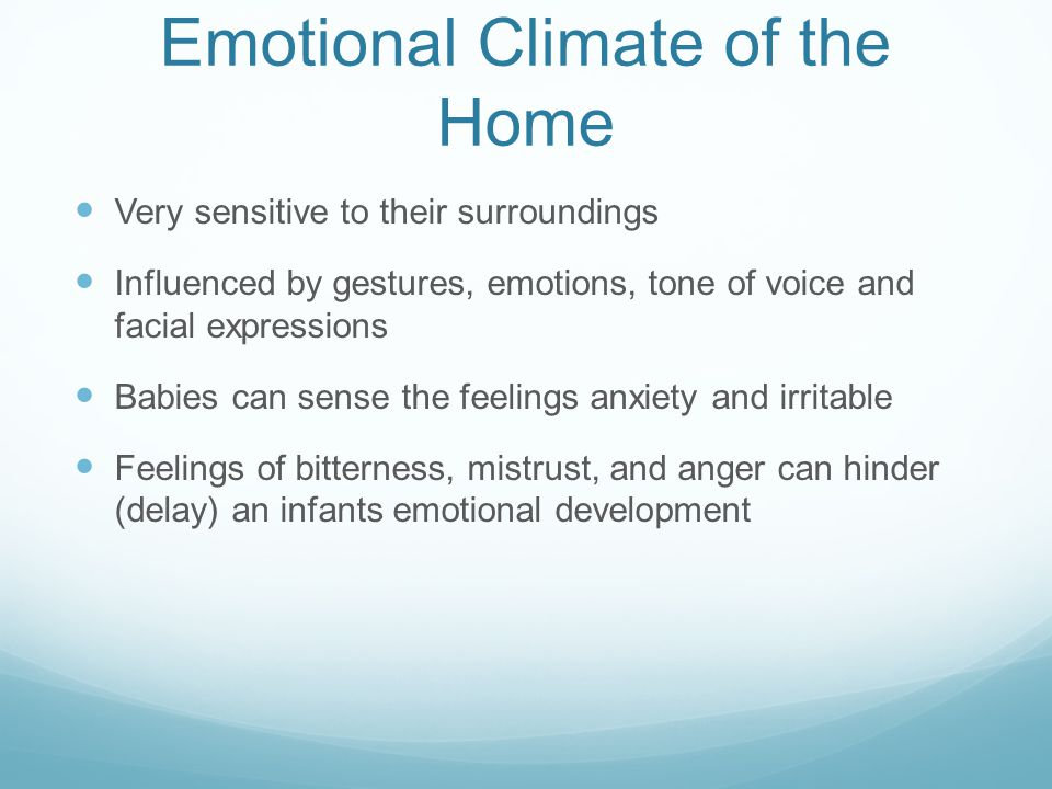 Emotional Climate of the Home