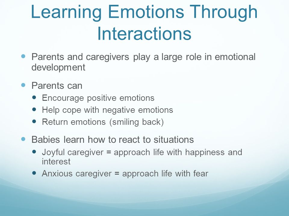 Learning Emotions Through Interactions