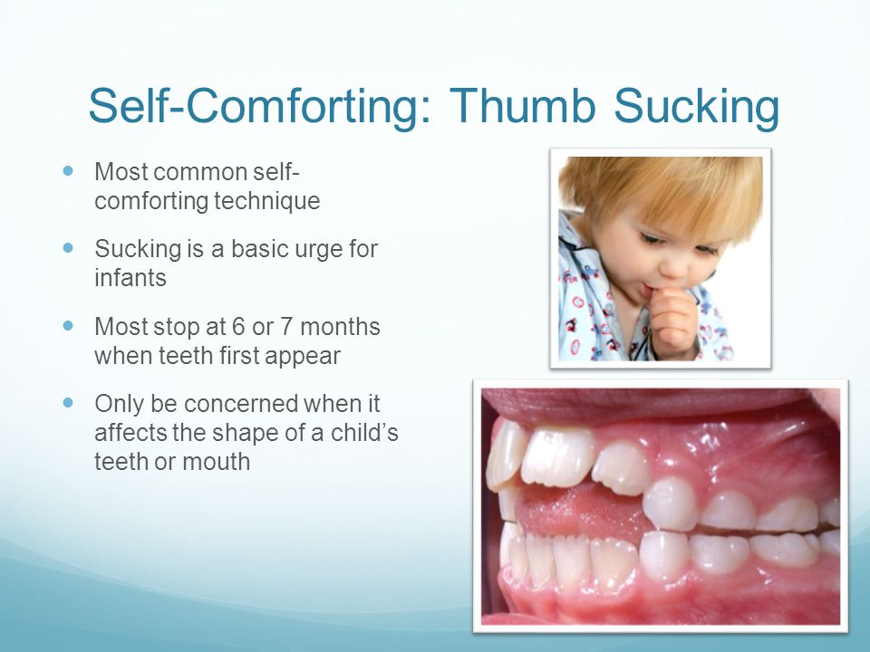Self-Comforting: Thumb Sucking