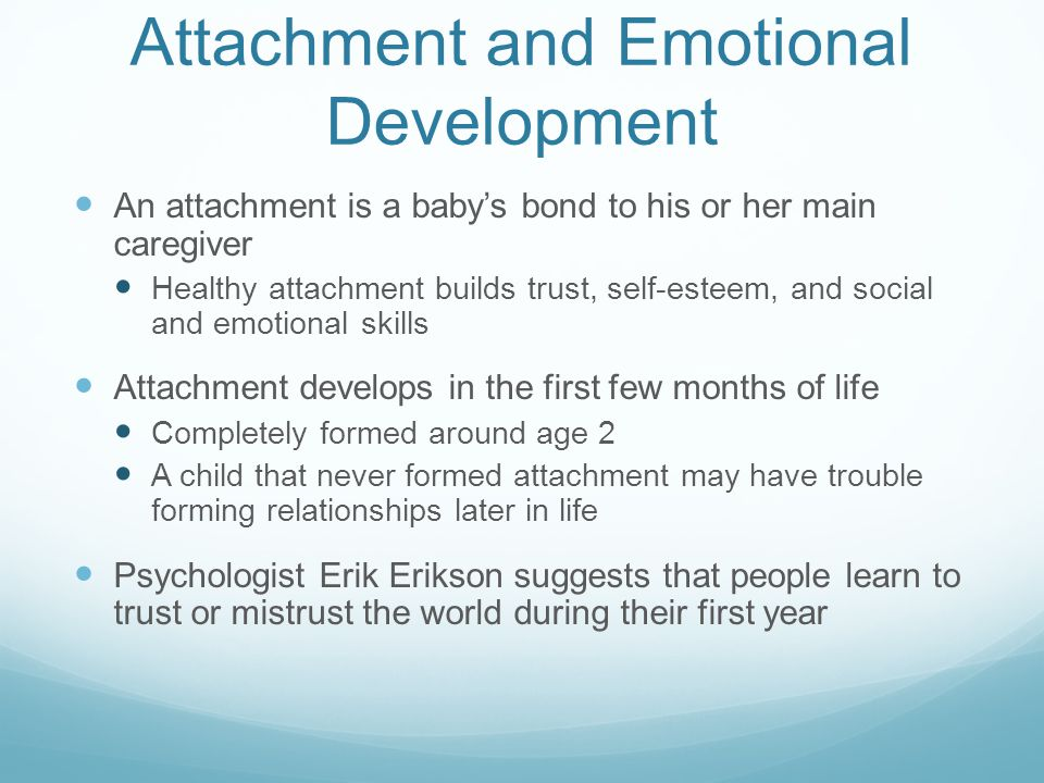Attachment and Emotional Development