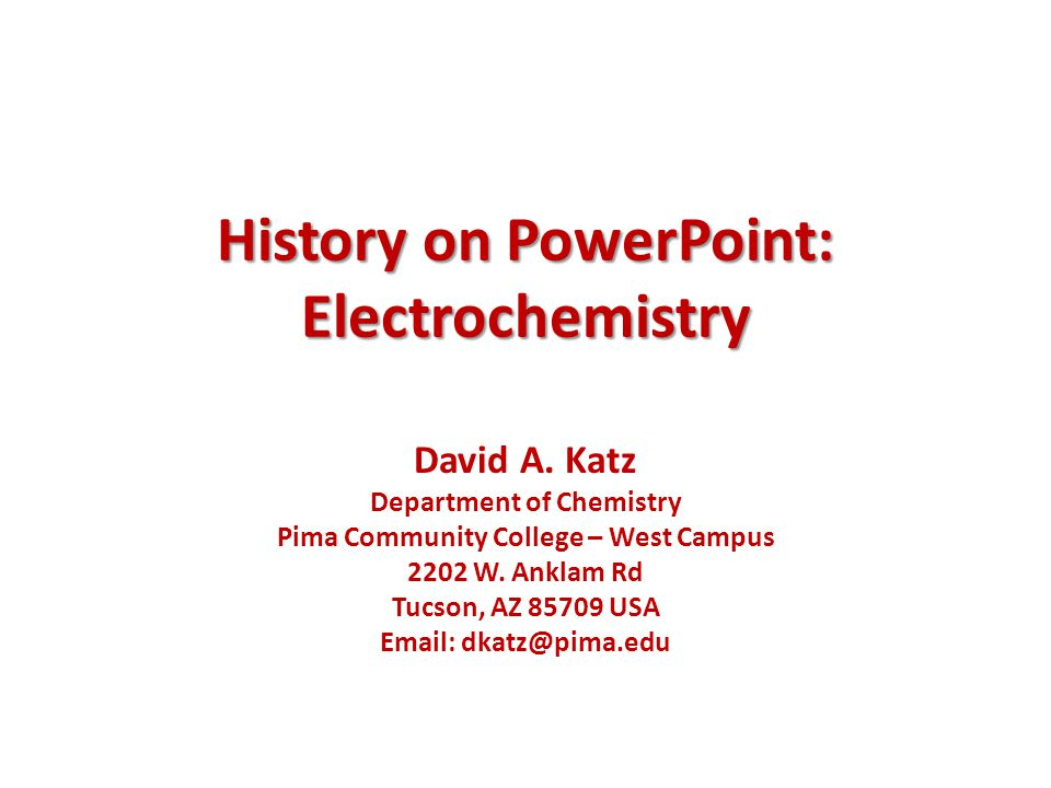 Ppt jf basic chemistry tutorial: electrochemistry powerpoint.