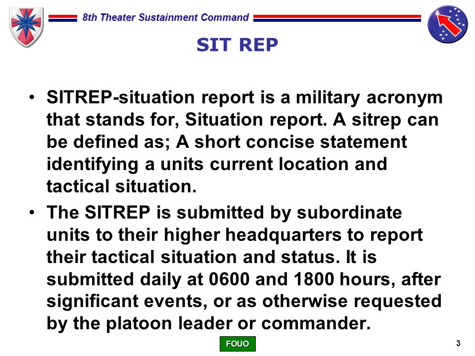 military sitrep example