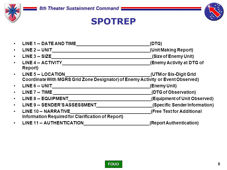 Sitrepspotrep Class Ppt Video Online Download