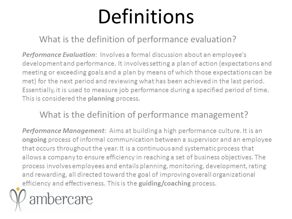 Performance Evaluation/Management Training - ppt video online download