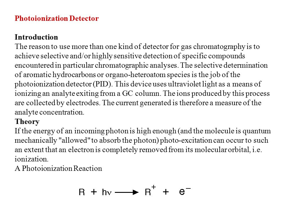 Detectors of a gas chromatograph - ppt download