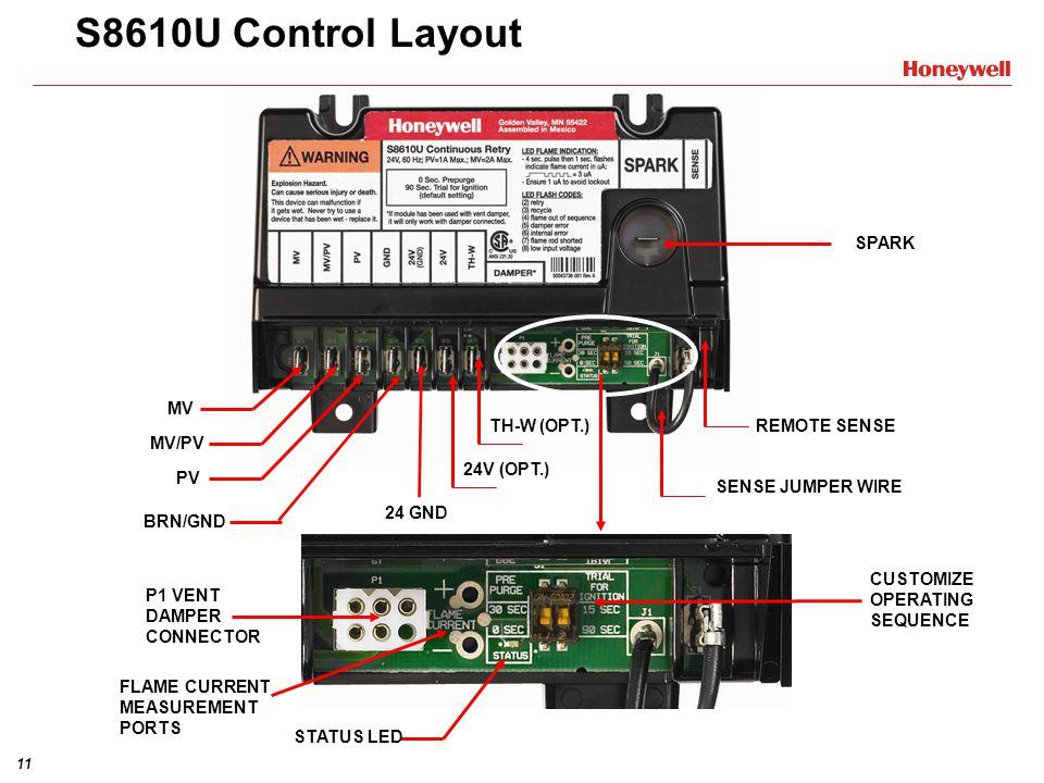 s8610u3009 universal electronic ignition modules training module rh slideplayer com honeywell s8610u wiring diagram Honeywell S8610U Wiring