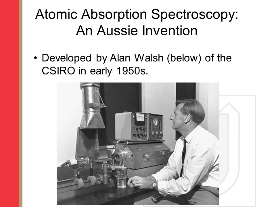 Atomic Absorption Spectroscopy: An Aussie Invention