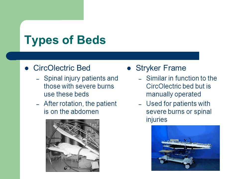 Types of Beds CircOlectric Bed Stryker Frame