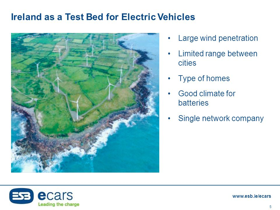 Ireland as a Test Bed for Electric Vehicles