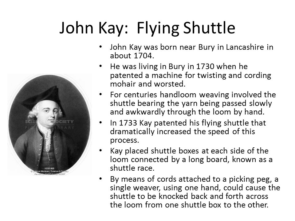 what year did john kay invent the flying shuttle
