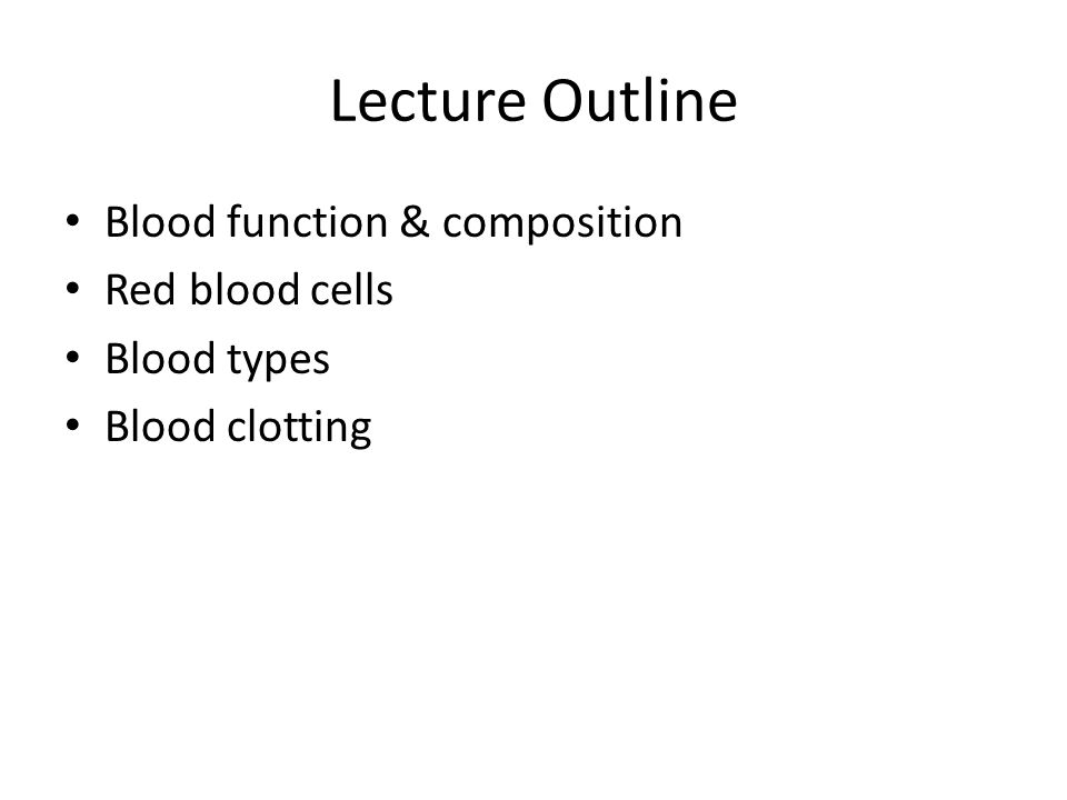 Chapter 11 Blood  - ppt video online download