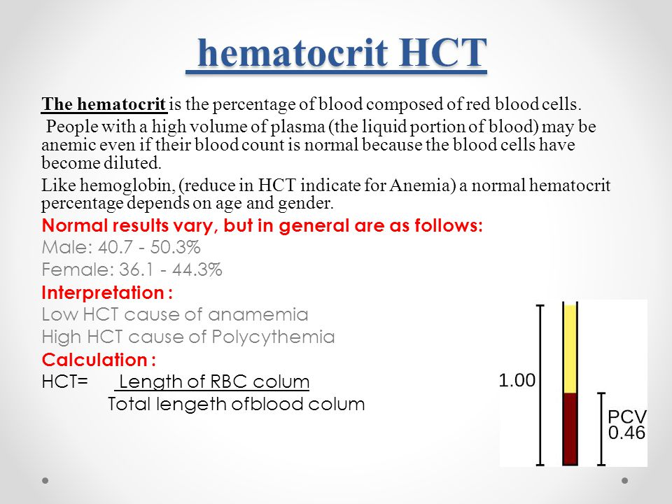 hematocrit hgt lab report Hemoglobin and hematocrit test code 7998 cpt code(s)  daily report available: 1 day reference range(s)  hematocrit: 4544-3: hematocrit.
