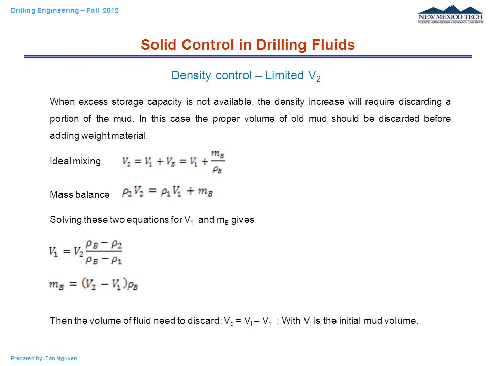 Chapter 2 – Drilling Fluids - ppt video online download
