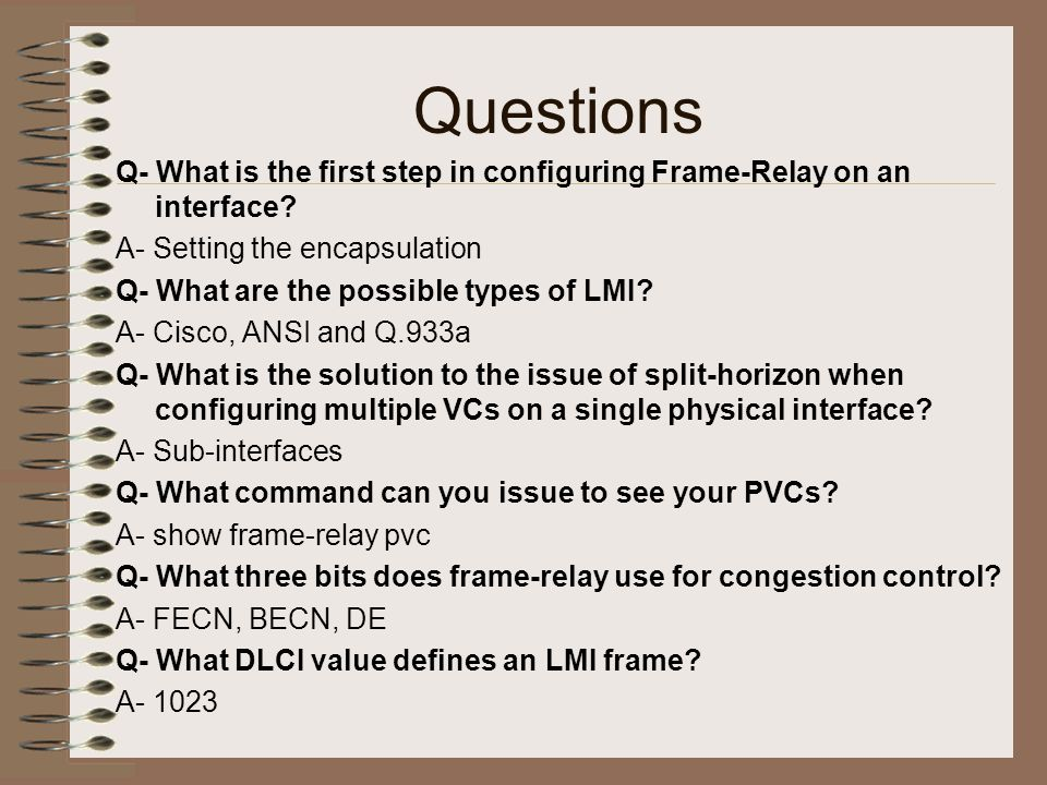 Nice Ccna Frame Relay Questions Photo - Custom Picture Frame Ideas ...