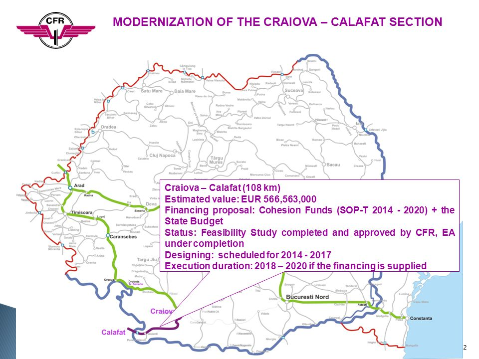 MODERNIZATION OF THE CRAIOVA – CALAFAT SECTION