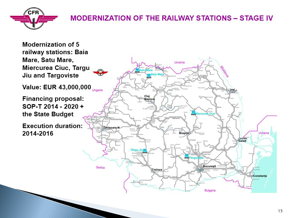 MODERNIZATION OF THE RAILWAY STATIONS – STAGE IV