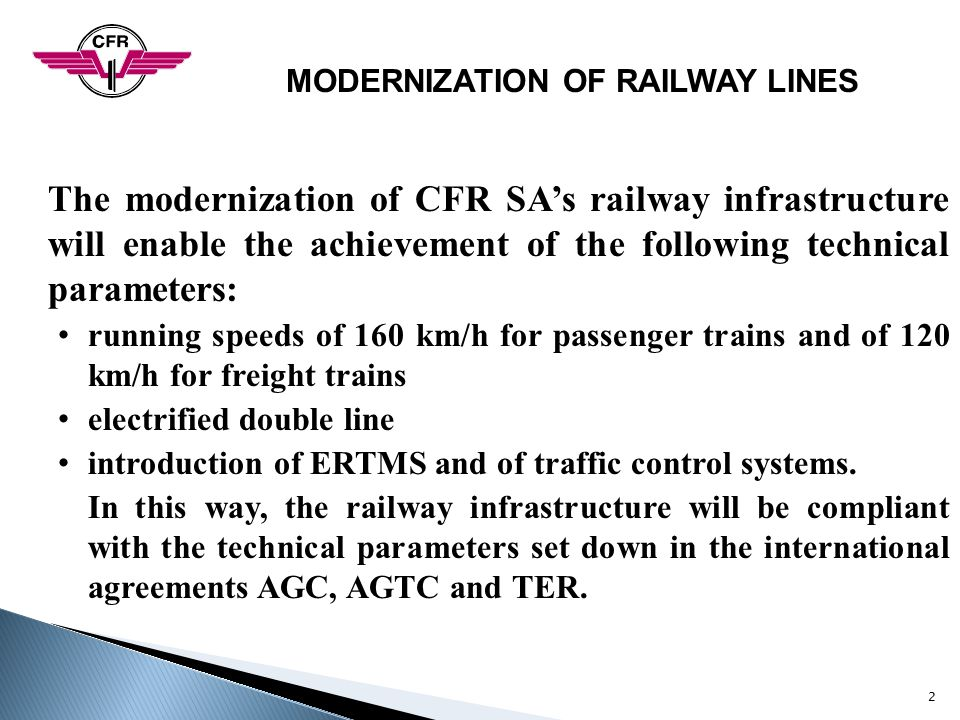 MODERNIZATION OF RAILWAY LINES
