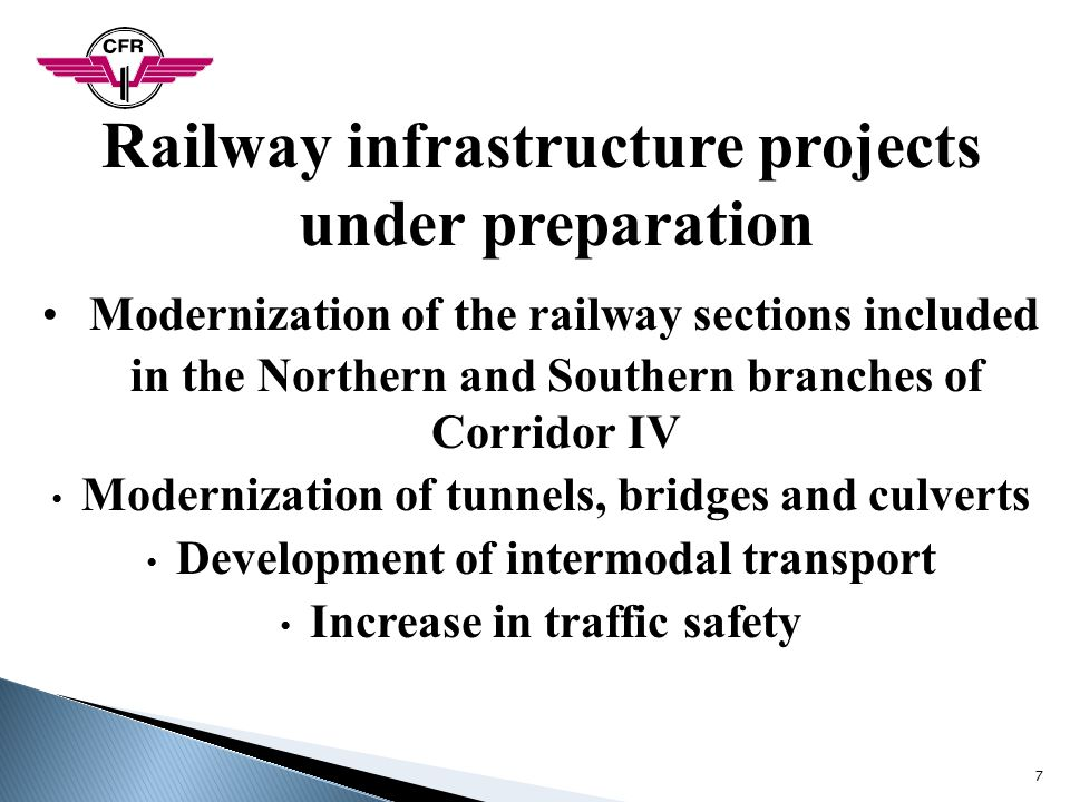 Railway infrastructure projects under preparation